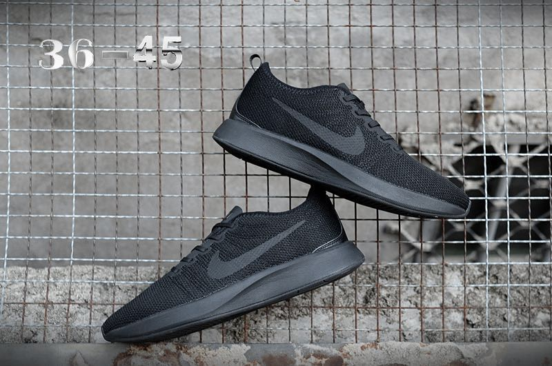 Nike Dualtone Racer All Black Shoes