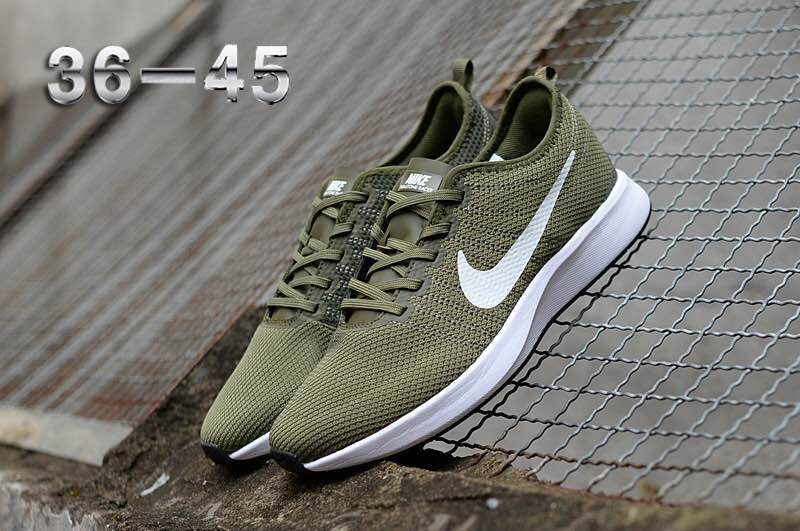Nike Dualtone Racer Army Green White Shoes