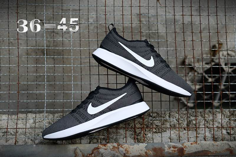 Nike Dualtone Racer Black White Shoes