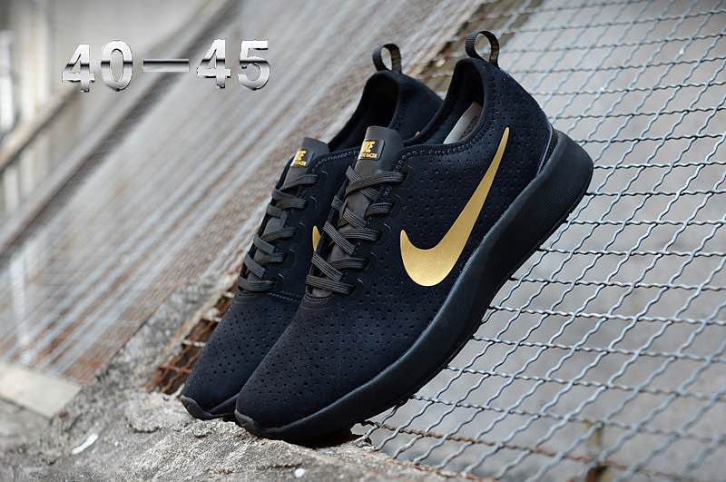 Nike Dualtone Racer Premium Black Gold Shoes