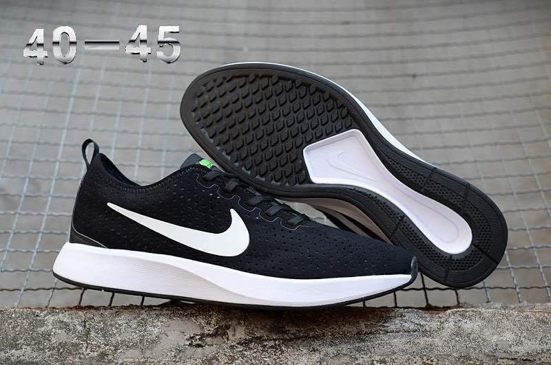 Nike Dualtone Racer Premium Black White Shoes