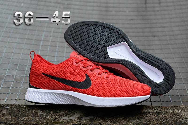 Nike Dualtone Racer Premium Red Black White Shoes