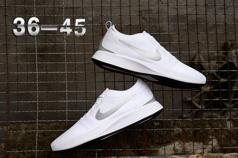 Nike Dualtone Racer White Silver Shoes