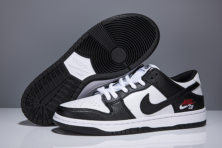 Women Nike Dunk Low Elite Sb Black White Shoes