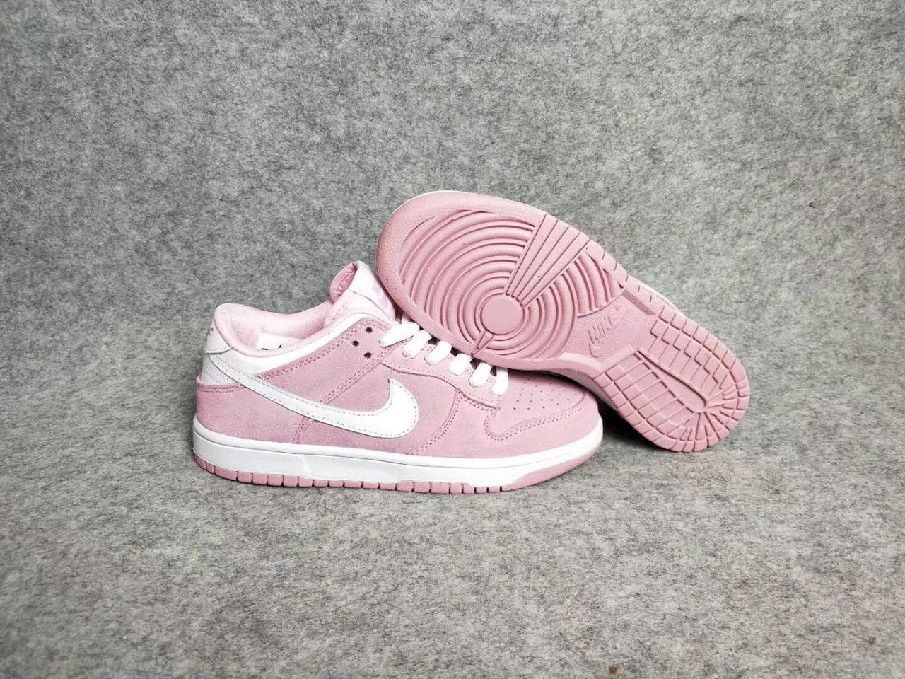 quality design 4f895 a2ac9 Nike Dunk Low GS Pink White Shoes