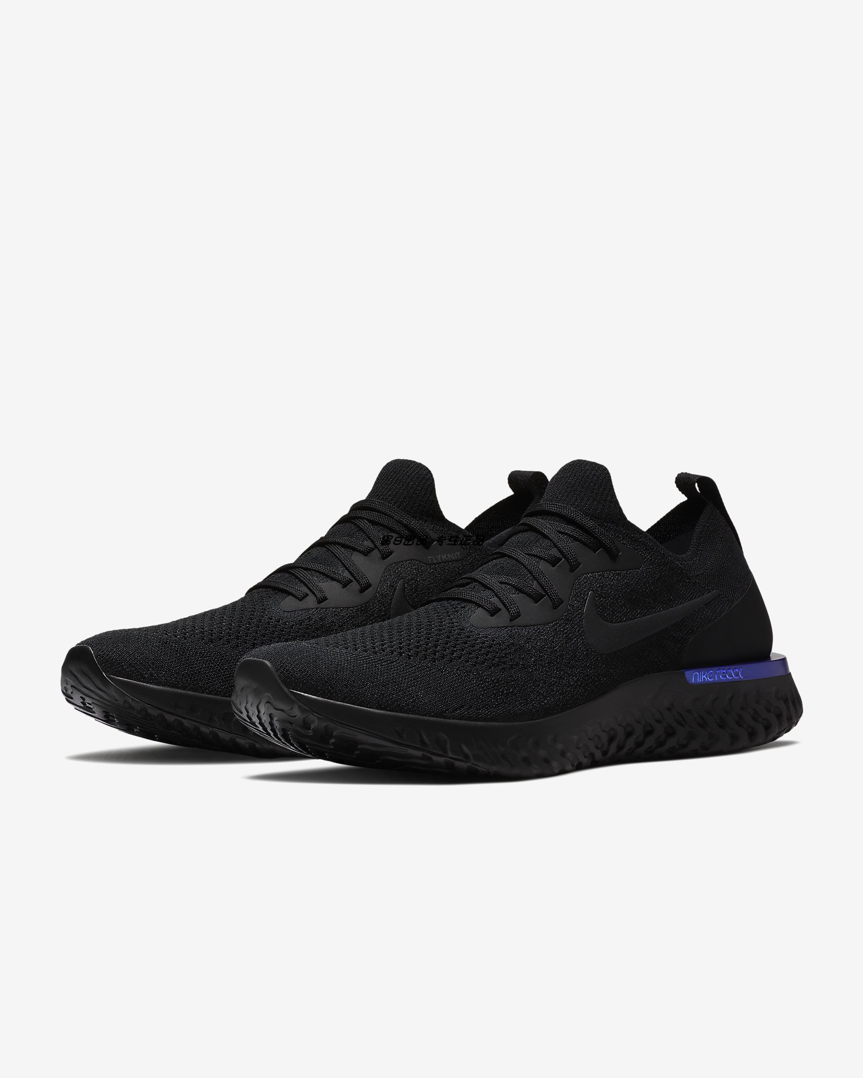 Nike Epic React Flyknit Black Blue Shoes