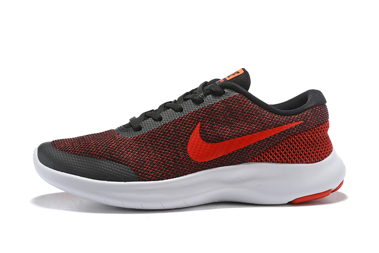 Nike Flex Experience RN7 Black Red White Running Shoes
