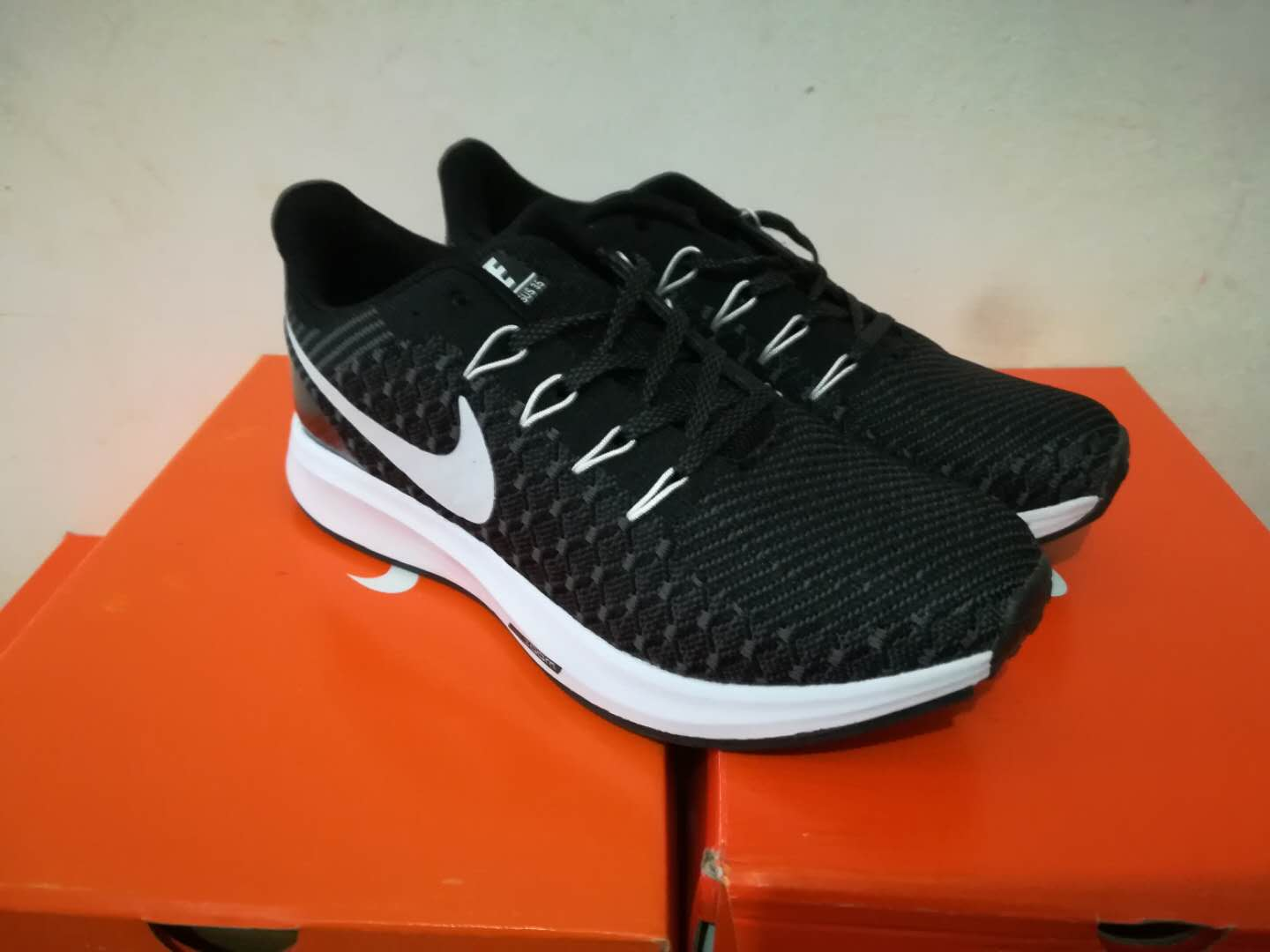 Nike Flyknit Lunar 2 iD Black White Running Shoes