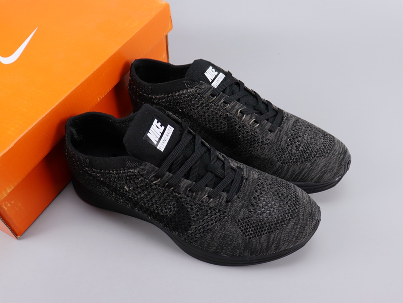 Women Nike Flyknit Racer Carbon Black Shoes