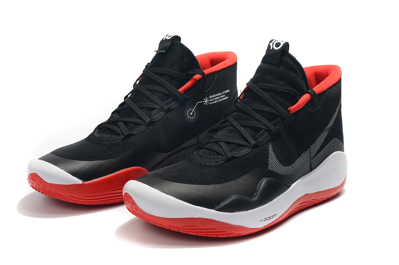 2019 Nike KD 12 Black White Red