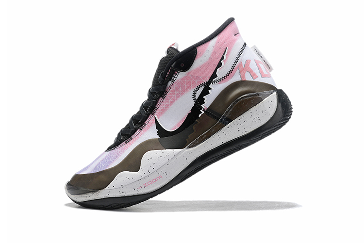 2019 Nike KD 12 Shoes White Bronw Black Pink