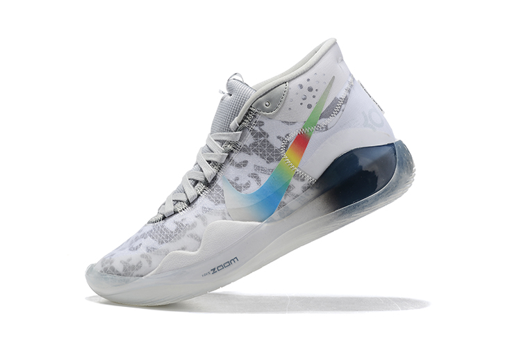 2019 Nike KD 12 Basketball Shoes White Grey Black