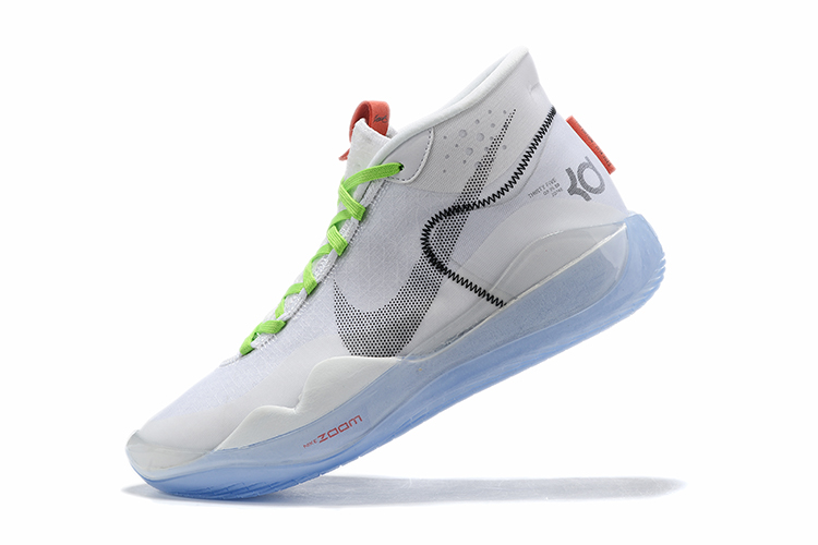 Real Nike KD 12 Shoes White Grey Green