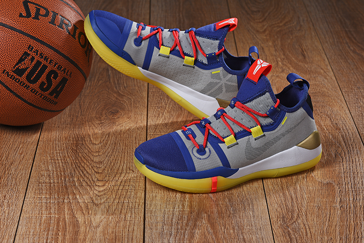 2019 Nike Kobe A.D. E.P Blue Grey Red Yellow