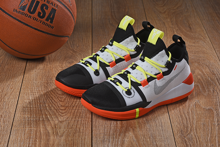 2019 Nike Kobe A.D. E.P White Black Yellow Orange