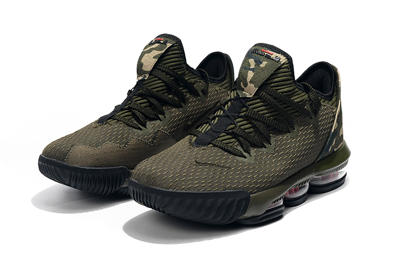 2019 Nike LeBron 16 Low Army Green Black