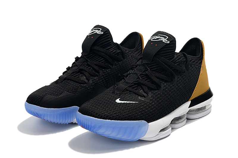 2019 Nike LeBron 16 Low Black Yellow White Ice Sole