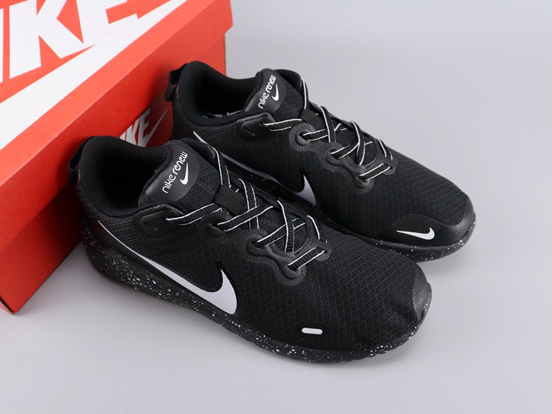 Women Nike Legned React Black White Shoes