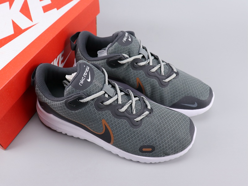 Women Nike Legned React Grey Orange Shoes