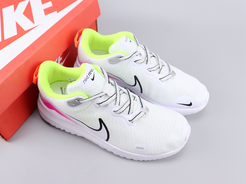 Women Nike Legned React White Pink Green Shoes
