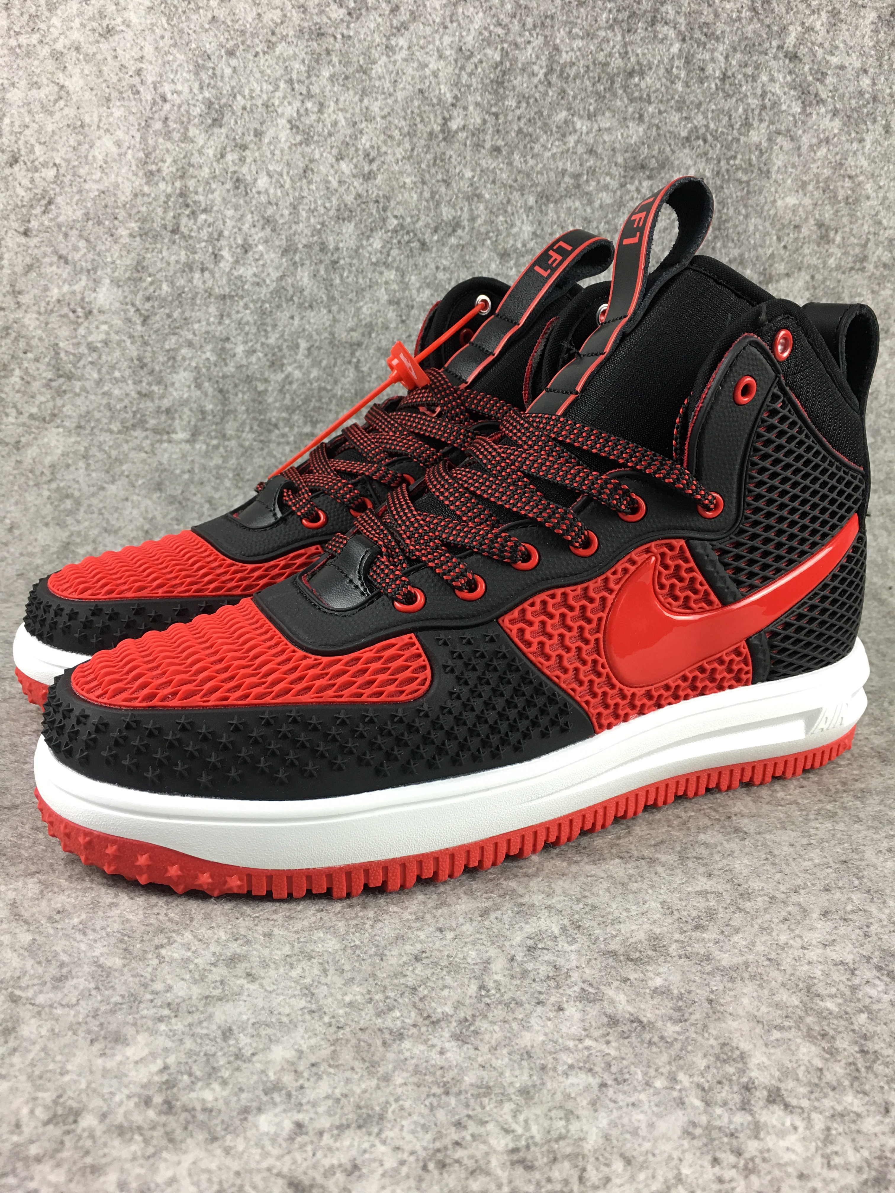 Nike Lunar Force 1 Nano Black Red Shoes