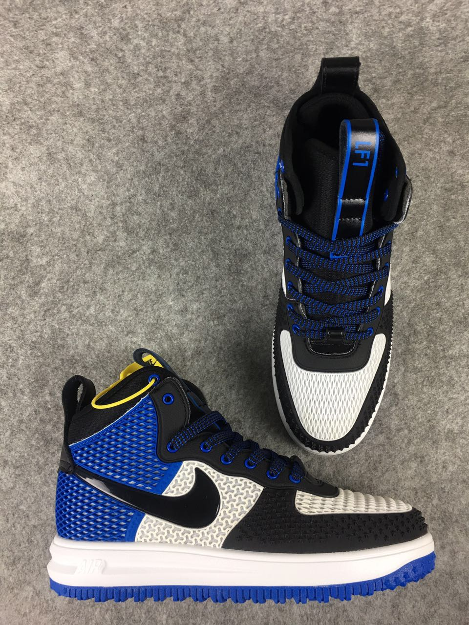 Nike Lunar Force 1 Nano Black Royal Blue White Shoes