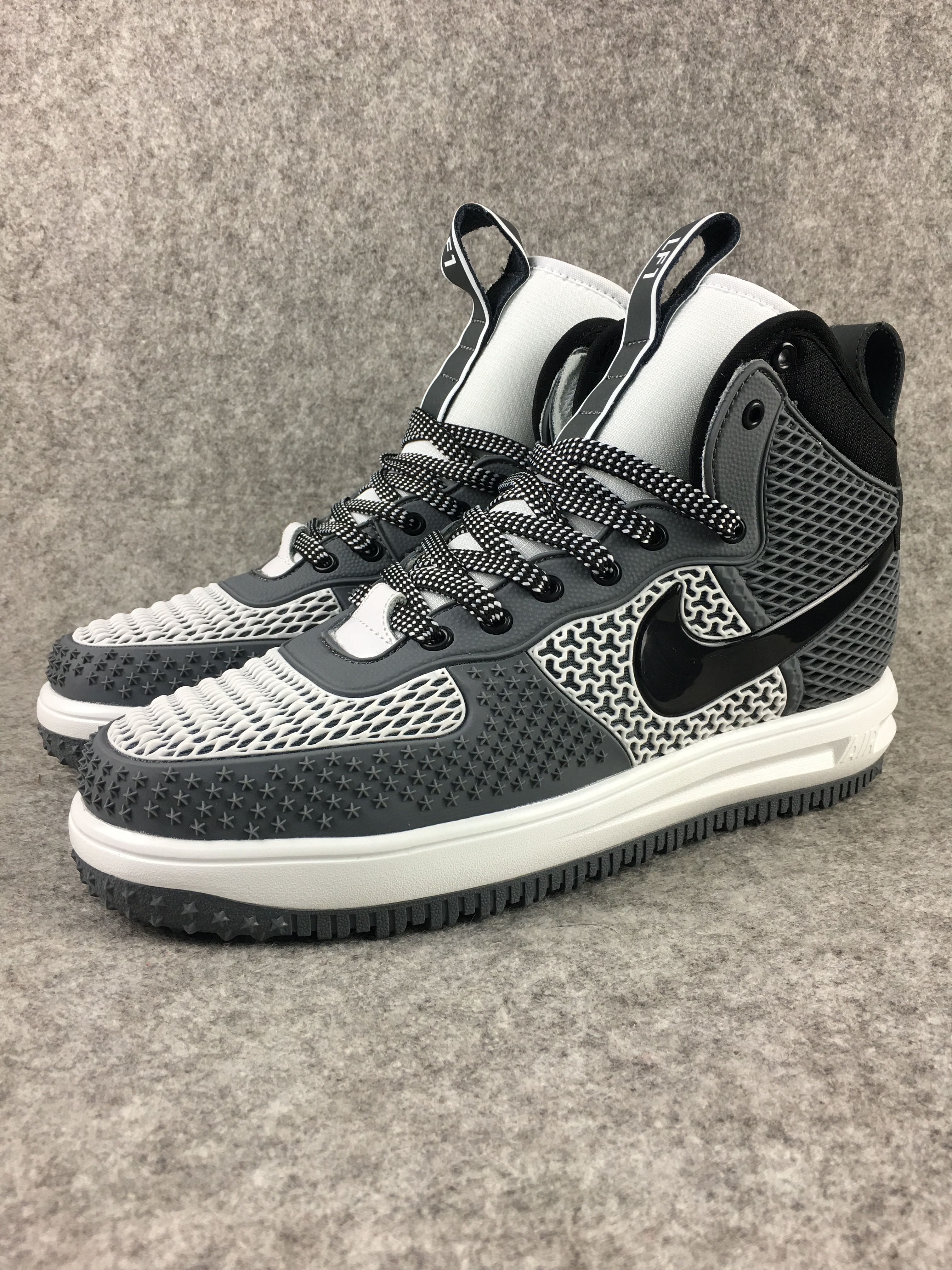 Nike Lunar Force 1 Nano Grey White Black Shoes