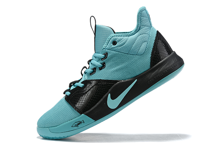 2019 Nike PG 3 Shoes Jade Blue Black