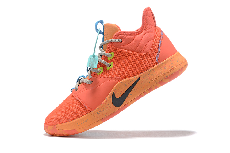 2019 Nike PG 3 Shoes Orange Blue Black