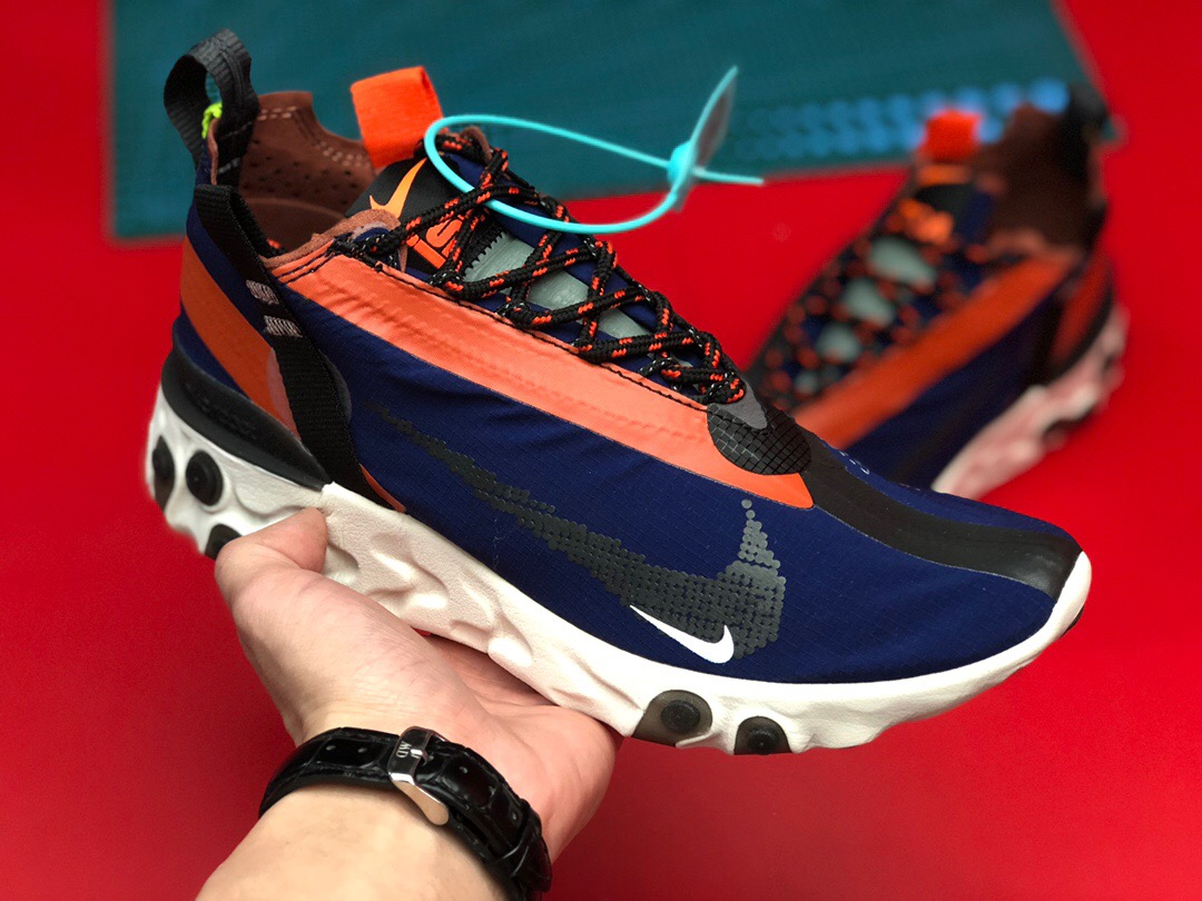 Nike REACT WR ISPA Blue Orange Black White Shoes