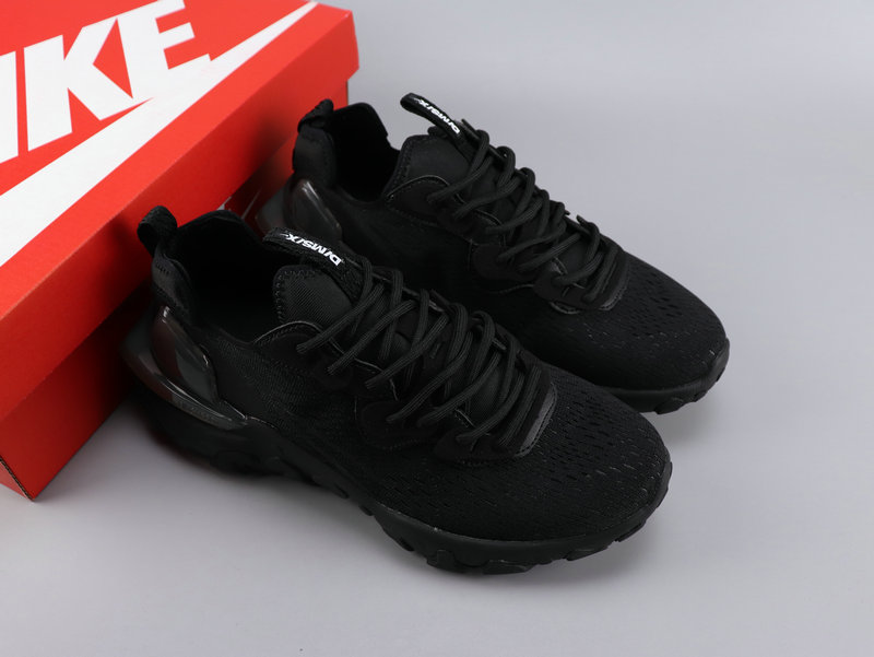 Women Nike React VISION All Black Shoes