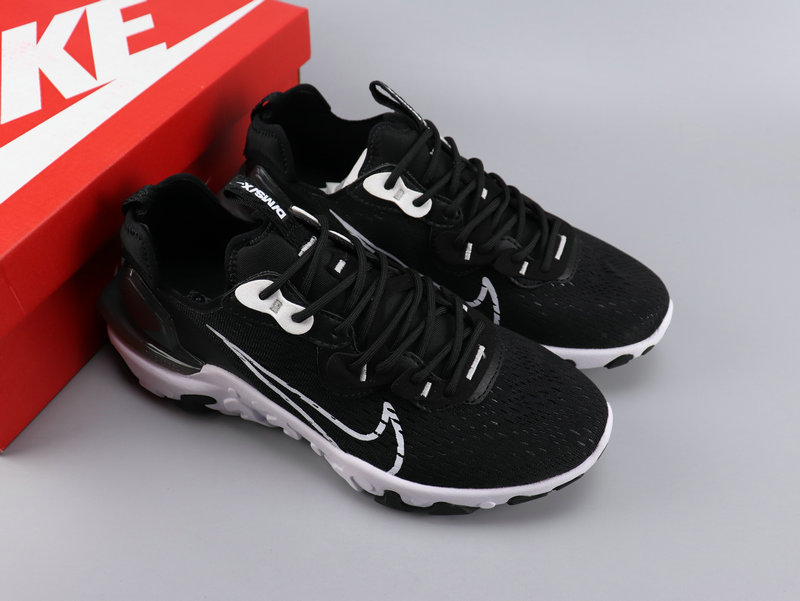 Women Nike React VISION Black White Shoes