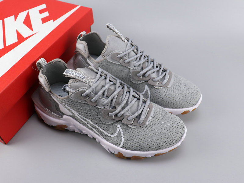 Women Nike React VISION Wolf Grey Shoes