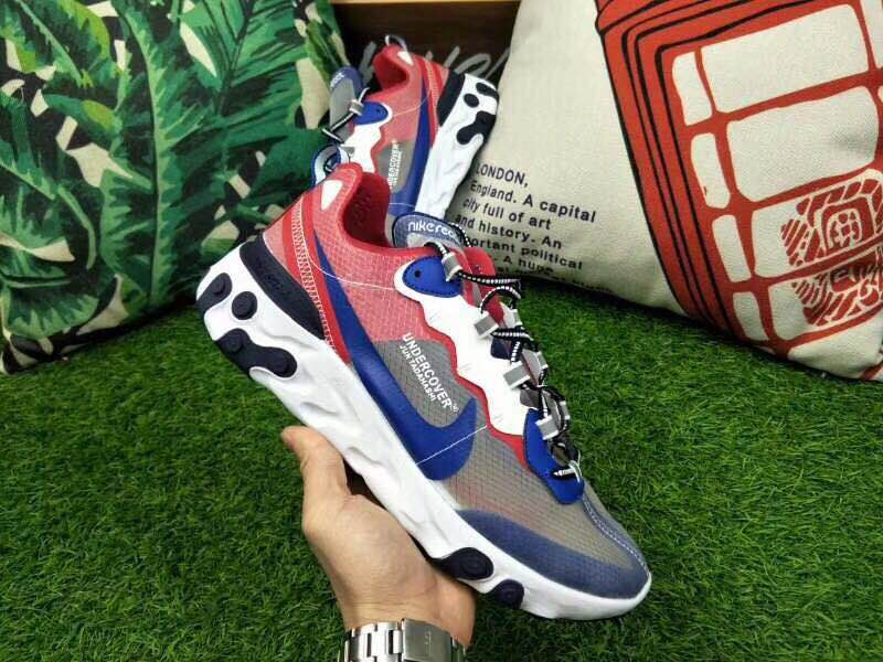 Nike Rest Under Cover Grey Blue Red White Shoes