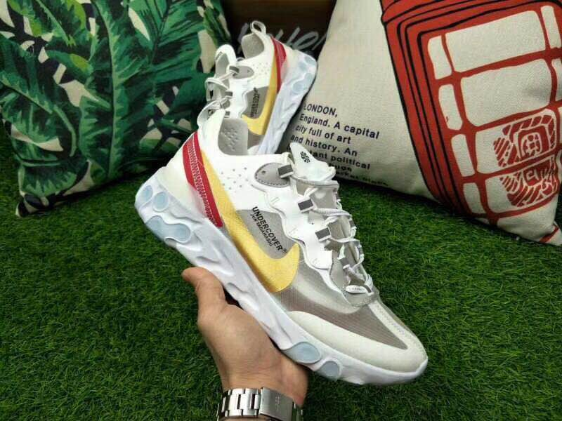 Nike Rest Under Cover White Silver Yellow Red Shoes