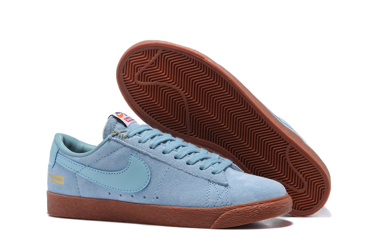 Nike SB Blazer GT x Supreme Blue Browm Shoes