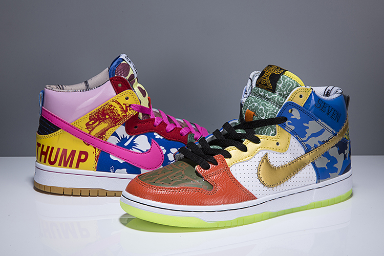 "Nike SB Dunk High ""What The Doernbecher""Colorful Shoes"