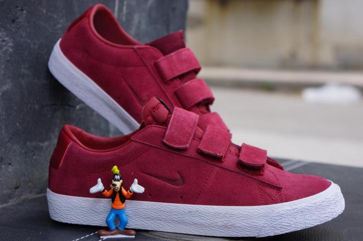 Nike SB X Numbers Edition Blazer Low Ac Qs Red Shoes