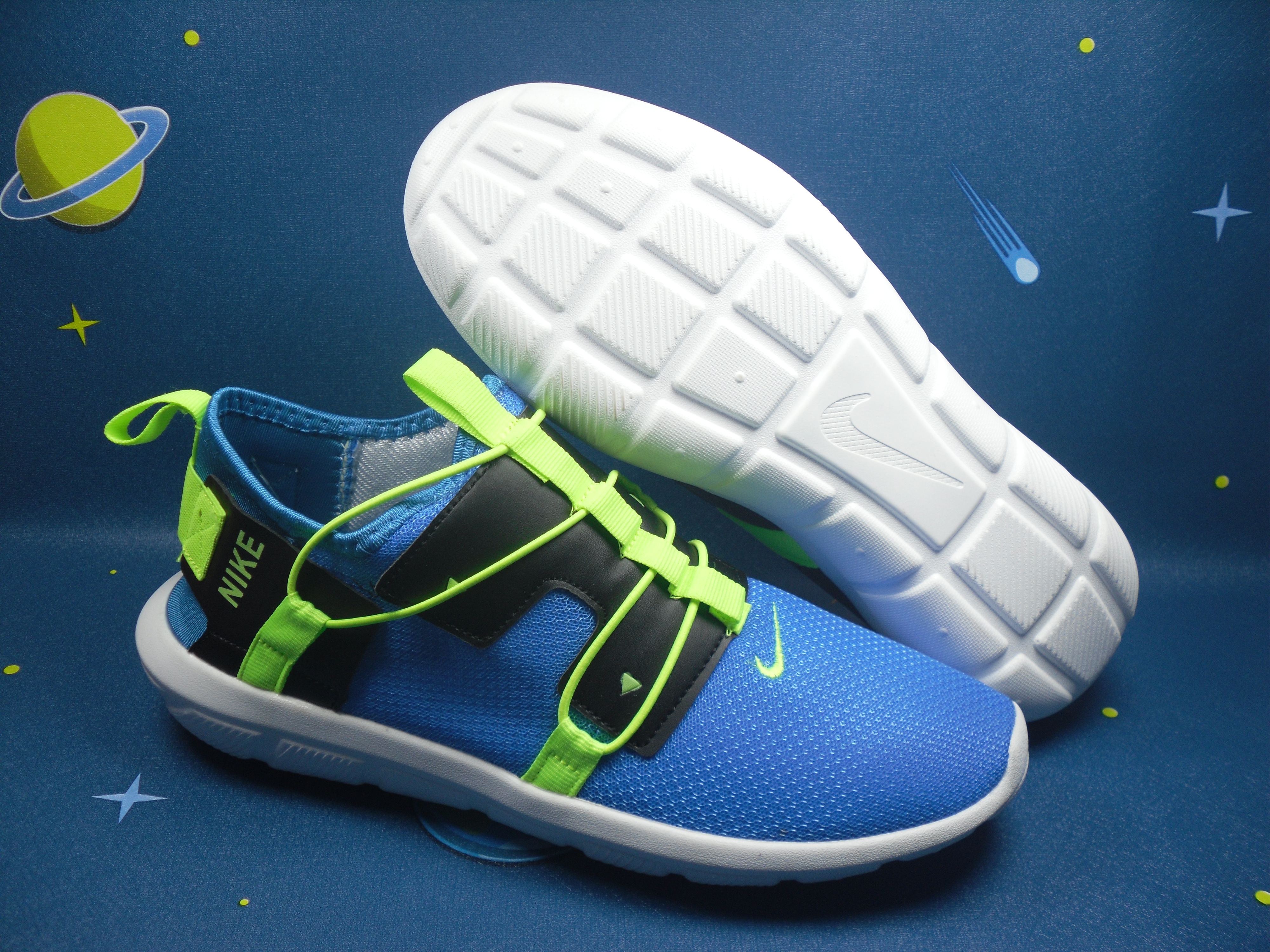 Nike Vortake Blue Green Black Shoes