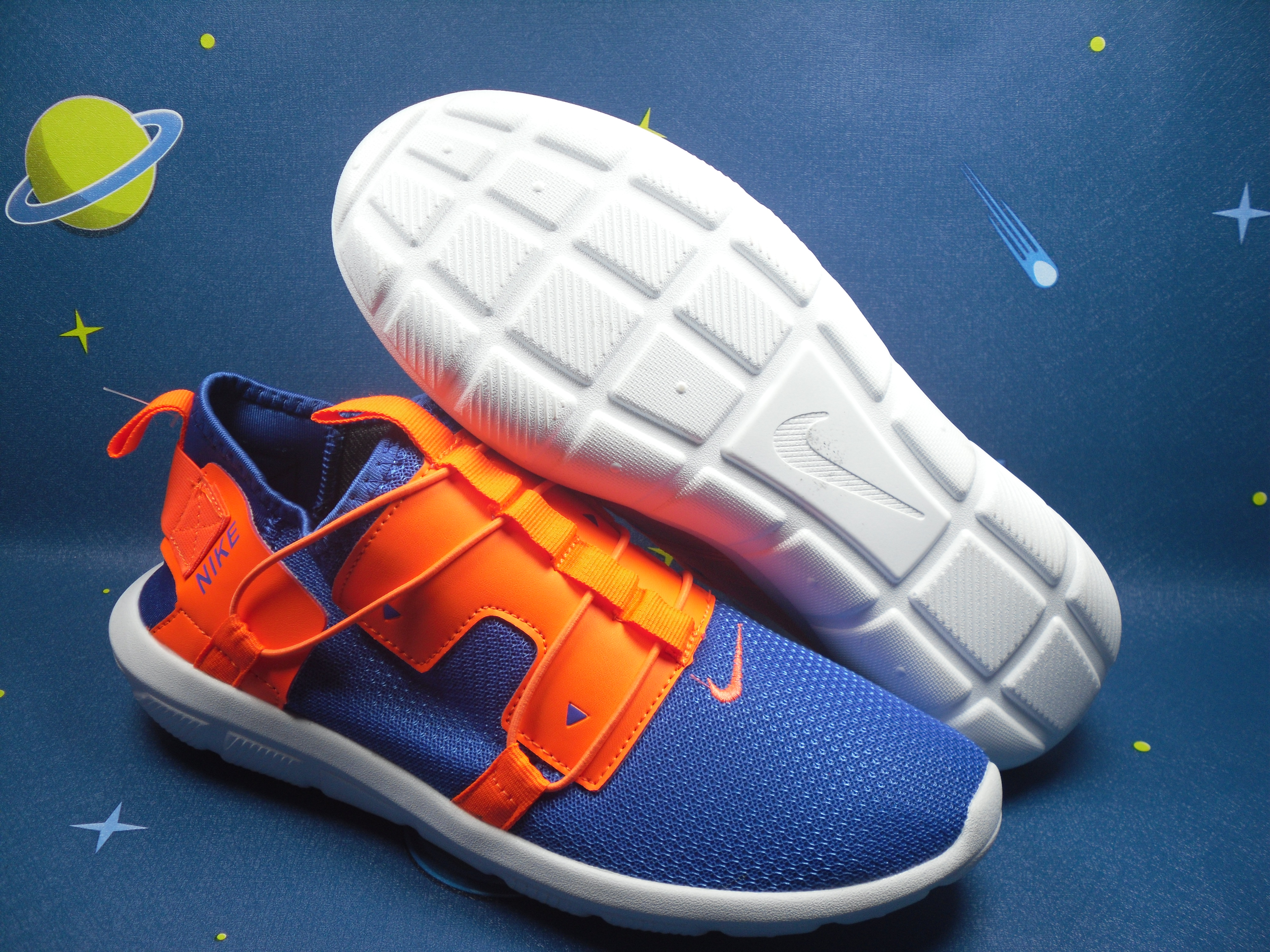 Nike Vortake Blue Orange Shoes