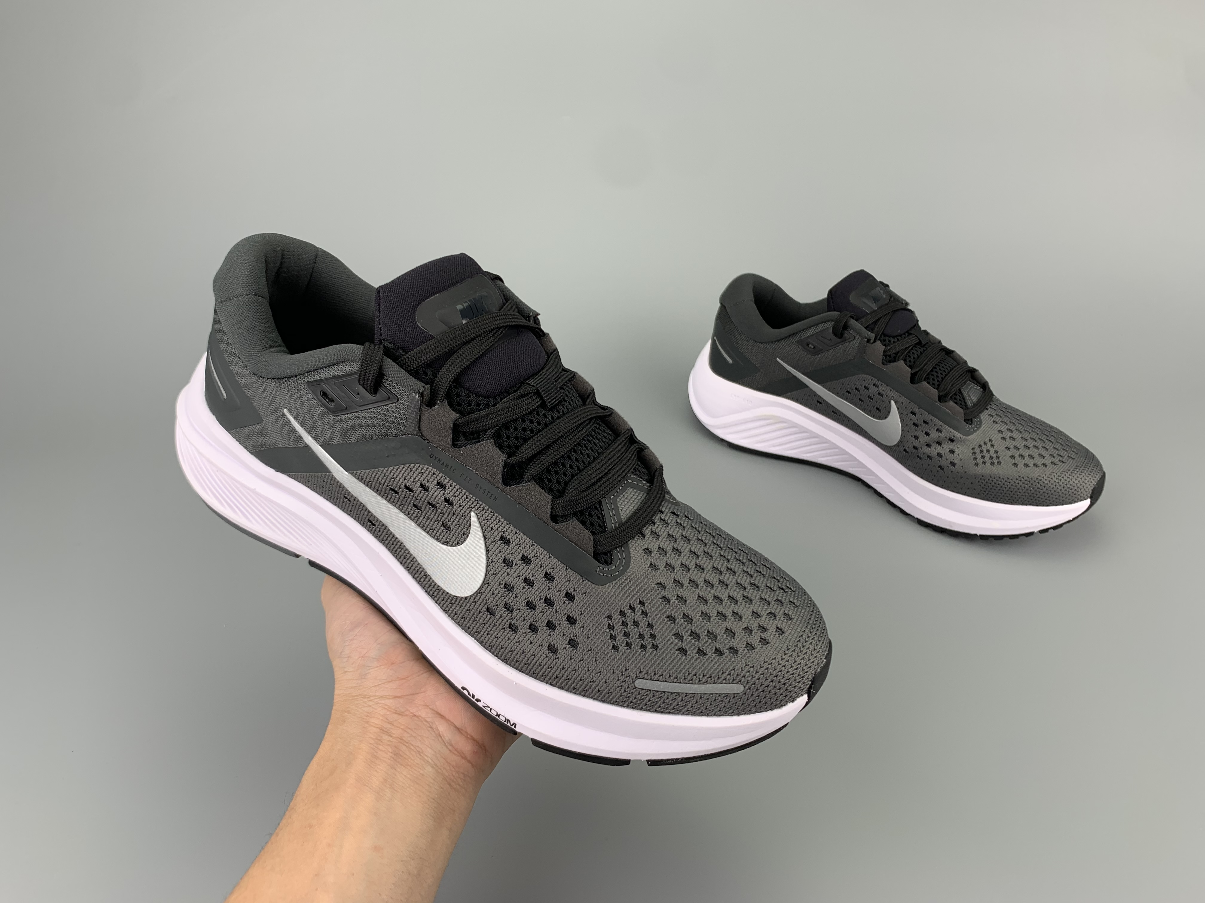 Nike Zoom Structure 23 Black Grey White Shoes