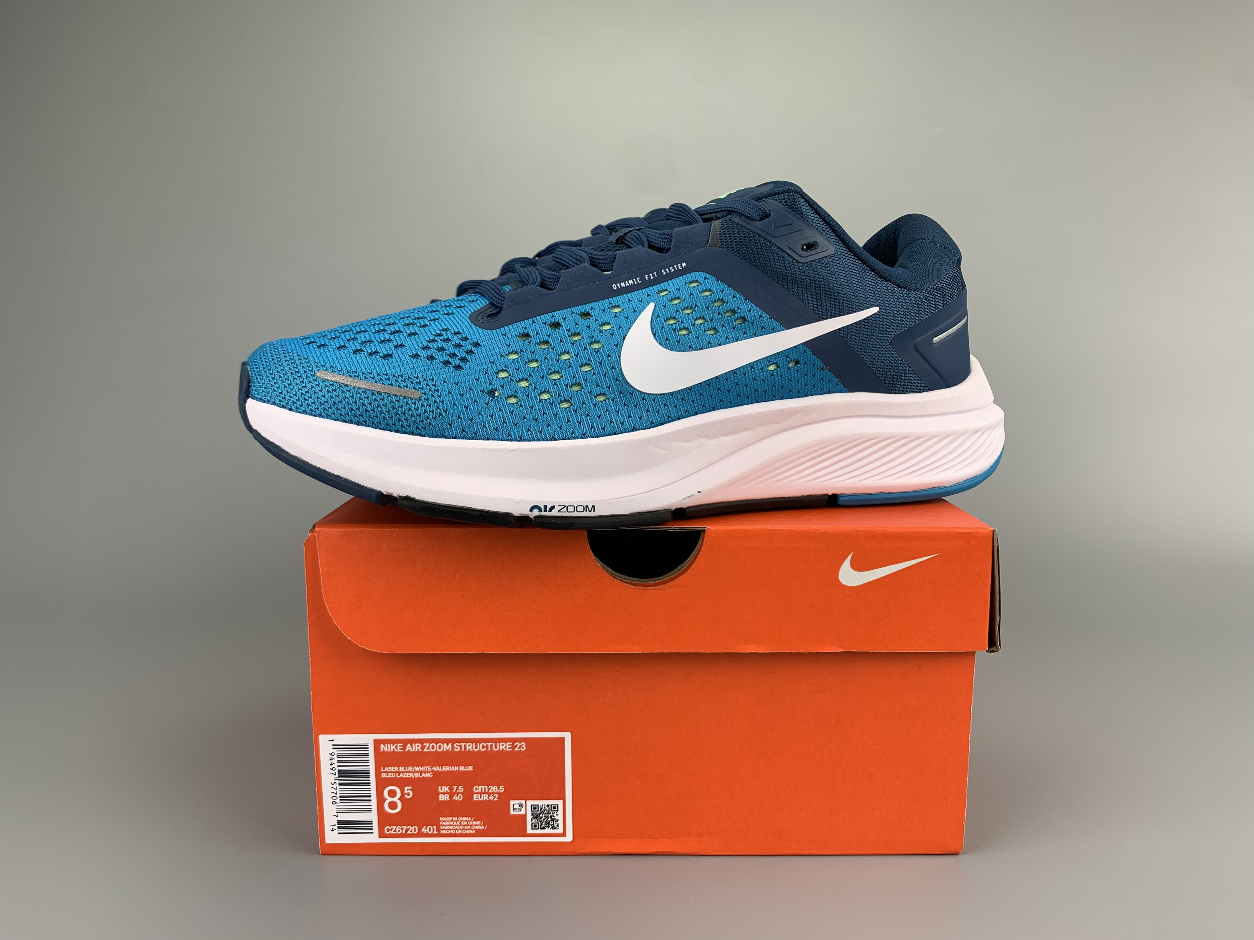 Nike Zoom Structure 23 Blue White Shoes