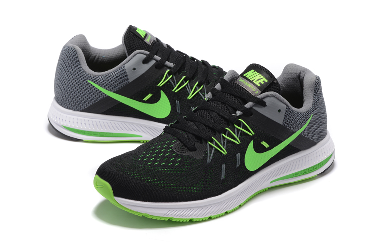 Nike Zoom Winflo 2 Black Green Grey Shoes