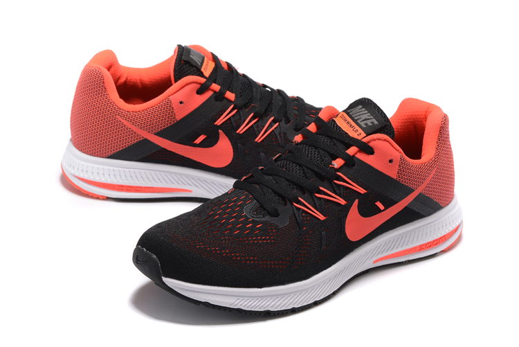 Nike Zoom Winflo 2 Black Reddish Orange Shoes