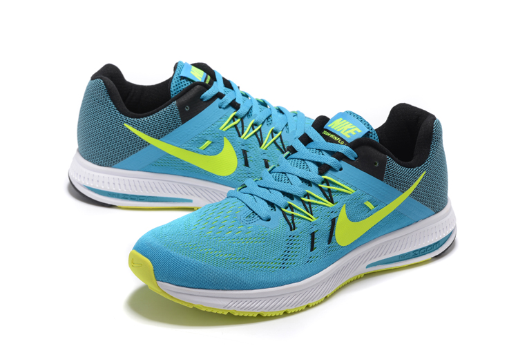 new styles 38095 98942 Nike Zoom Winflo 2 Blue Fluorscent Shoes