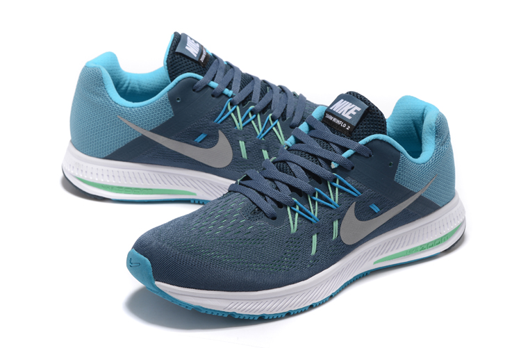 Nike Zoom Winflo 2 Jade Blue Silver Shoes