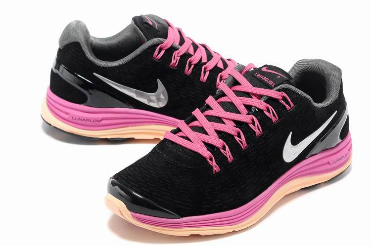 Nike 2013 Moonfall Black Pink Orange Sport Shoes