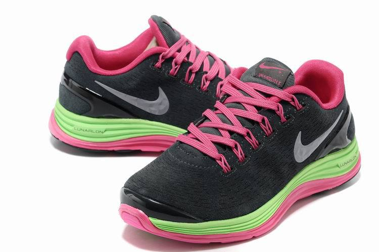 Nike 2013 Moonfall Black Red Green Sport Shoes