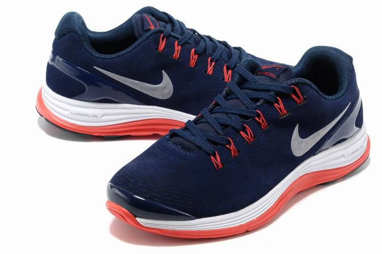 Nike 2013 Moonfall Blue Red White Sport Shoes