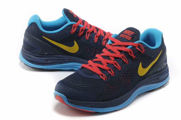 Nike 2013 Moonfall Grenadine Black Blue Red Yellow Sport Shoes